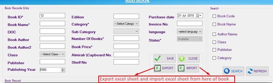 RE: How to import list of book in software?